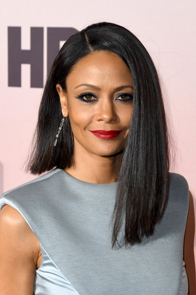 Thandie Newton went edgy with this asymmetrical cut for the premiere of 'Westworld' season 3.