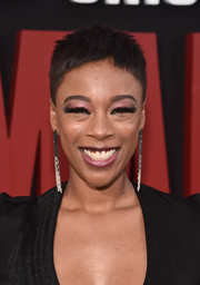 Samira Wiley looked summer-ready with her pixie at the premiere of 'The Handmaid's Tale' season 2.