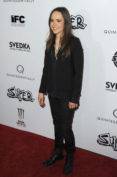 More Pics of Ellen Page Long Curls (1 of 19) - Ellen Page Lookbook - StyleBistro