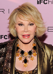 Joan Rivers showed off her signature bob while hitting the premiere of A Piece of Work.