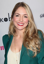 Brooke Nevin let her hair down for the premiere of 'Life Happens.'