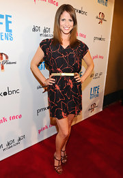 Andrea Savage looked summery in this floral dress at the 'L!fe Happens' premiere.