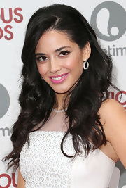 Edy Ganem's cotton candy pink lips added a flirty touch to her red carpet beauty look.