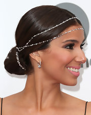 Roselyn Sanchez may have stuck to a classic bun, but she intertwined it with a beaded headpiece for an extra touch of glam.