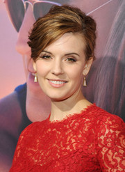 Maggie Grace styled her tresses into a messy-glam French twist for the premiere of 'The Choice.'