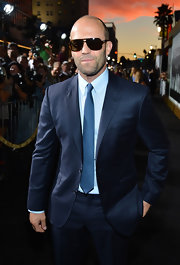 As if Jason Statham wasn't already a sex god, he wore his stylish sunglasses at night like a bamf.
