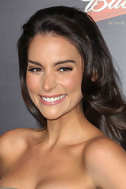 Genesis Rodriguez wore her waves down at the premiere of 'The Last Stand.'