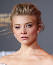 Natalie Dormer rocked a messy updo at the 'Hunger Games: Mockingjay - Part 2' premiere.