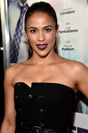 Paula Patton pulled her hair back into a sleek half-up style for the 'Perfect Match' premiere.