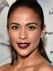 Paula Patton rocked dark red lipstick at the 'Perfect Match' premiere.
