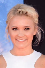 Emily Osment looked darling with her braided updo at the 'Guardians of the Galaxy' premiere.