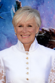Glenn Close sported a tousled short 'do at the 'Guardians of the Galaxy' premiere.