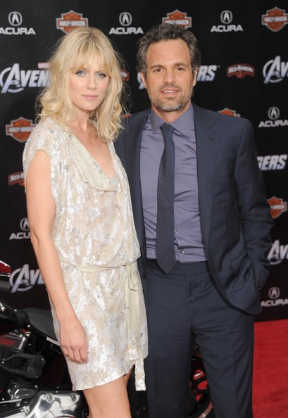 Sunrise looked stunning at the 'Avengers' premiere in a loose beaded dress.