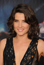 Cobie Smulders swept on a pale golden rose lipstick with a subtly shimmering finish for 'The Avengers' premiere.