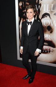 Kimberly Peirce suited up in a black tux for the premiere of 'Carrie.'