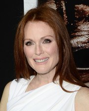 Julianne Moore opted for a simple straight 'do when she attended the premiere of 'Carrie.'
