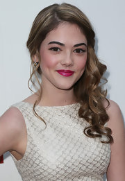 McKaley Miller made her lips pop with bright fuschia lipstick when she attended the 'Iceman' premiere.
