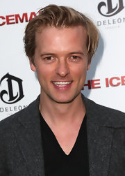 Adam Campbell rocked a disheveled 'do at the premiere of 'The Iceman.'