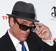 Robert Davi looked cool at the 'Iceman' premiere with his fedora and shades.