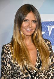 Heidi Klum was stylishly coiffed with sleek ombre tresses at the premiere of 'America's Got Talent' season 12.