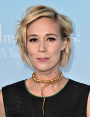 Liza Weil sported a mussed-up hairstyle at the premiere of 'Gilmore Girls: A Year in the Life.'