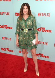 Kathryn Hahn looked darling in a green crochet mini dress at the premiere of 'The Do-Over.'