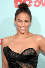 Paula Patton sported a cute top knot at the premiere of 'The Do-Over.'