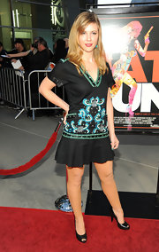 Heather wore a cotton embroidered frock to the 'Cat Run' premiere in LA.