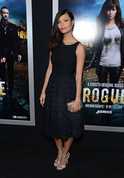 Thandie Newton channeled Audrey Hepburn in a classic LBD with a fitted bodice and full skirt.