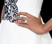 Toks Olagundoye chose a pretty pastel pink polish to add just a touch of feminine flare to her red carpet look.