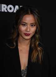 Jamie Chung looked fetching with her half-up waves at the premiere of 'Bleed for This.'