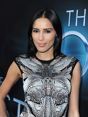 Rebecca Da Costa sported a sleek and straight 'do to complement her uber-modern red carpet look at 'The Host' premiere.