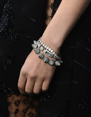 Diane Kruger wore a diamonds in a totally unique way with this cone-shaped diamond bracelet.
