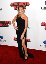 Alexa Vega looked ultra sophisticated in a black one-shoulder dress with a thigh-high slit during the 'Machete Kills' premiere.