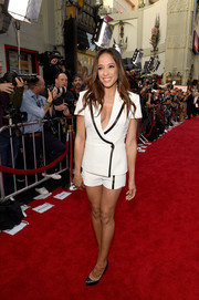 Dania Ramirez's white jacket and shorts combo at the premiere of 'The Promise' was a summery way to suit up.