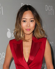 Aimee Song sported shoulder-length ombre waves during the premiere of 'Dior and I.'