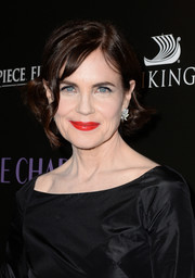 Elizabeth McGovern wore a short 'do with curly ends at the premiere of 'The Chaperone.'