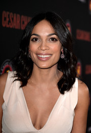 Rosario Dawson looked lovely with her center-parted wavy 'do during the 'Cesar Chavez' premiere.