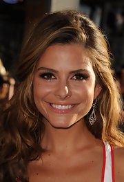 Maria Menounos looked glam at the 'Captain America' premiere in a sexy dress that she paired with a pair of diamond drop earrings from the Open Hearts by Jane Seymour collection for Kay Jewelers.