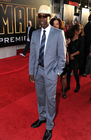 Don Cheadle paired his black dress shoes with a sleek gray suit.