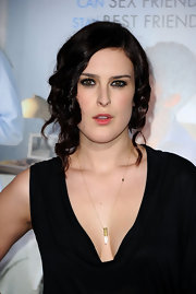 Rumer Willis struck a sultry gaze in smokey eyeshadow, which perfectly complemented her hazel eyes.