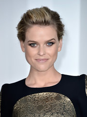 Alice kept her hair simple with this pinned updo and let her flawless makeup be the center of attention.
