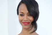 Actress Zoe Saldana attends the premiere of Paramount Pictures'