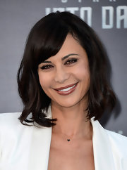 Catherine Bell's shoulder-length waves gave her a fun and flirty red carpet look at the premiere of 'Star Trek Into Darkness.'