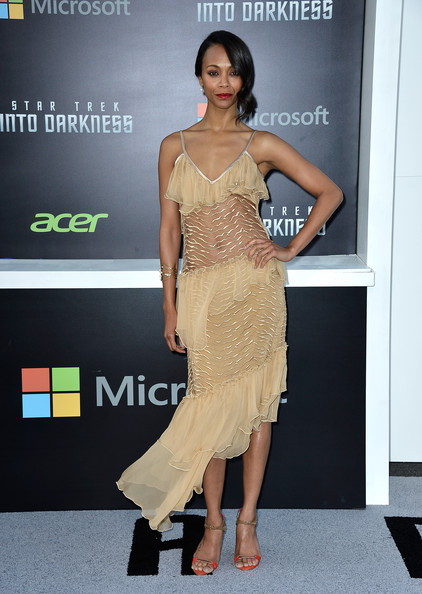 Zoe Saldana Wore Rodarte at the 'Star Trek Into Darkness' Hollywood Premiere