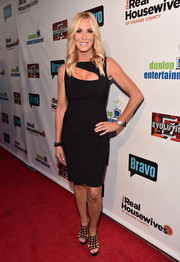 Lauri Peterson styled her LBD with chic black cage sandals.