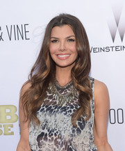 Ali Landry looked pretty with her flowing waves at the premiere of 'Escobar: Paradise Lost.'