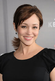 Autumn Reeser kept her locks casually chic for the premiere of 'The Kennedys'. A ponytail at the nape of the neck and wispy bangs completed her look.