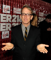 Andy Dick showed a bit of color with a gold and black striped tie at the premiere of '21 and Over.'
