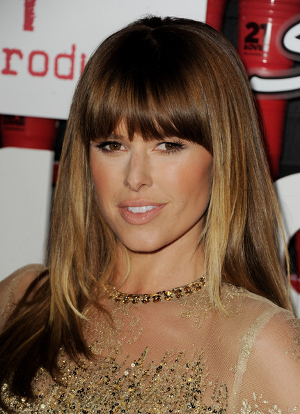 More Pics of Sarah Wright Long Straight Cut with Bangs (5 of 36) - Sarah Wright Lookbook - StyleBistro